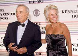 Sidney Harman (L) and Jane Harman