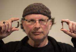 Simcha Jacobovici shows the Roman nails which he believes may have been used in the crucifixion of Jesus
