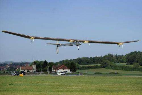 Solar Impulse takes off from Payerne airbase