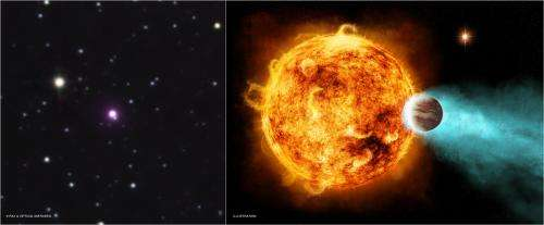 Star blasts planet with X-rays