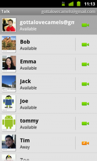 Google adds voice and video to Google Talk on Android smartphones