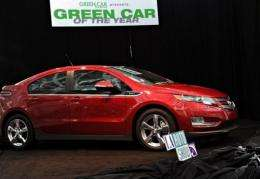 The Chevrolet Volt is shown after being named