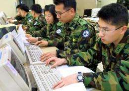 The military's websites had seen 2,772 hacking attempts from July 2010 to last month
