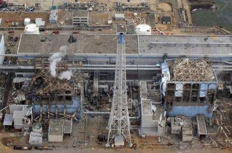 The stricken TEPCO Fukushima daiichi No.1 nuclear power plant in Fukushima prefecture