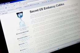 The US says releasing unredacted cables could put informants' lives in danger