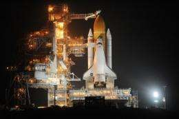 The US space shuttle Discovery prepares to launch in February