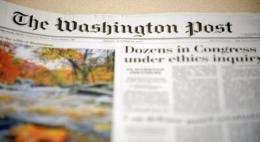 The Washington Post newspaper, 2009