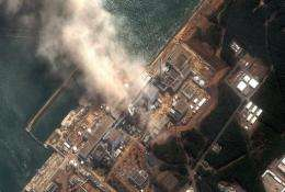 This DigitalGlobe aerial photo from March shows the seafront location of the damaged Fukushima nuclear power plant