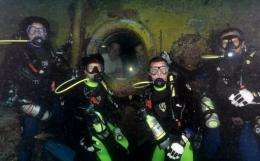 This image obtained from NASA shows NEEMO 15 crew members