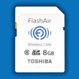 Toshiba launchs FlashAir, world's first SDHC memory card with embedded WLAN