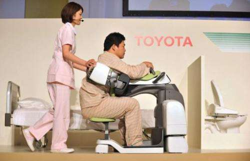 Toyota is looking to launch its healthcare robots commercially in 2013