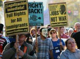 US protesters in San Francisco hold a day of action in support of the Occupy Wall Street movement