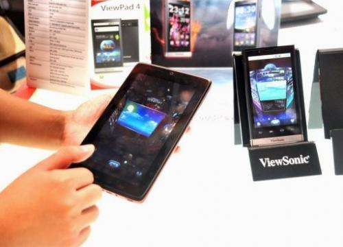 ViewSonic released its new seven-inch tablet, HoneyComb, in Taipei, on May 30