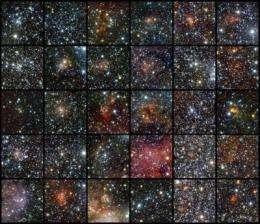 VISTA finds 96 star clusters hidden behind dust