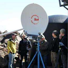 Volcanologists have eye on the sky