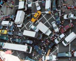 What causes traffic gridlock?