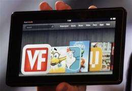 With Kindle Fire, Amazon's digital ambitions burn (AP)