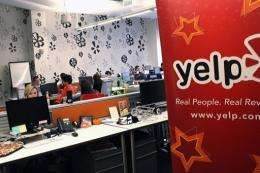 Yelp filed for an initial public offering Thursday seeking to raise up to $100 million