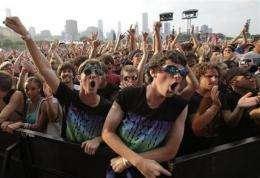 YouTube to stream Lollapalooza, Austin City Limits (AP)