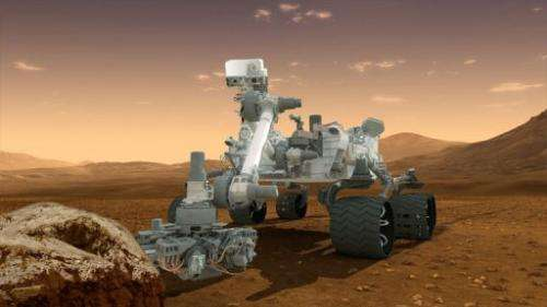 An artist's conception of NASA's Mars Science Laboratory Curiosity rover