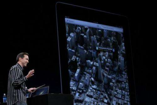 Apple Senior VP of iPhone Software Scott Forstall demonstrates the new map application