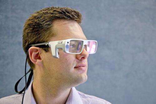 Eye-tracking glasses look for airport navigation clues
