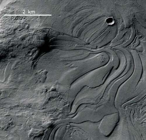 Ice sculptures fill the deepest parts of Mars