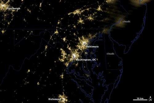 Images: Power Outages Darken Baltimore-Washington Region