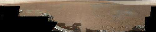 Mars rover sends back 1st 360-degree color view