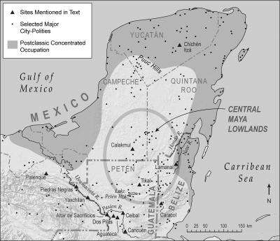 Multiple factors, including climate change, led to collapse and depopulation of ancient Maya