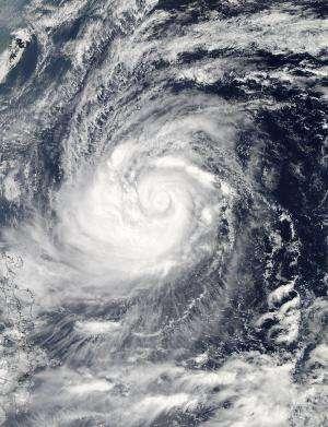 NASA eyes Typhoon Prapiroon's U-turn
