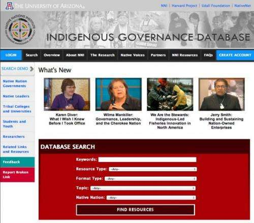 New Online Database Showcases Tribal Governance Resources