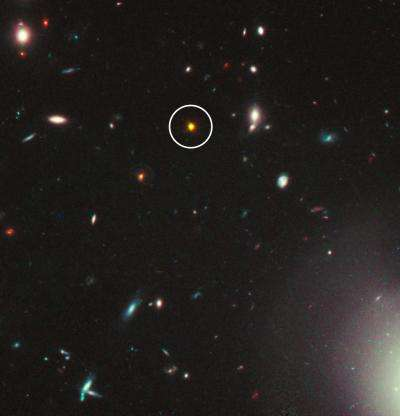 Quasar may be embedded in unusually dusty galaxy