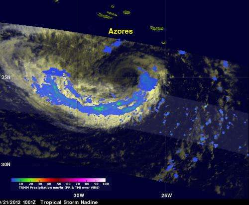 Satellite spots Tropical Storm Nadine and 2 developing lows