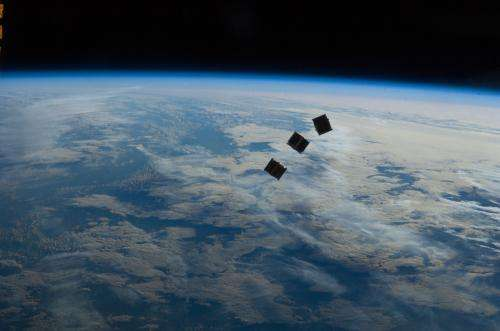 Surreal photos: CubeSats launched from the space station