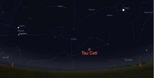Tau Ceti: Sun-like star only twelve light years away may have a habitable planet
