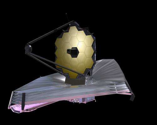 Tests under way on the sunshield for James Webb telescope