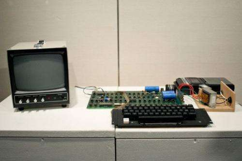 The Apple l, the first Apple computer made by Steve Jobs and Steve Wozniak in 1976