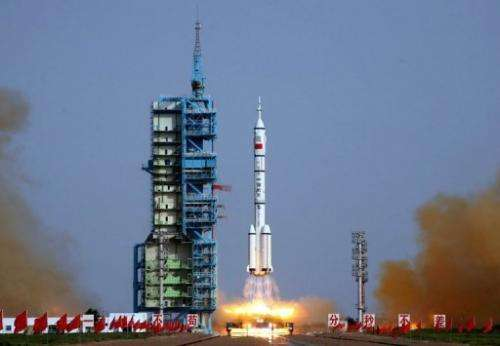 The Shenzhou-9 spacecraft took off from the remote Gobi desert on Saturday on China's fourth manned space mission