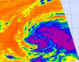 NASA sees Tropical Storm Sanvu continue to intensify