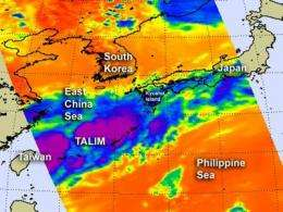 NASA sees Tropical Depression Talim becoming disorganized