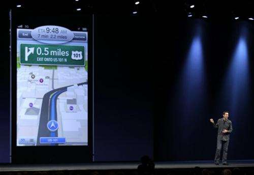 Apple kicks Google Maps off iPhone, adds Facebook