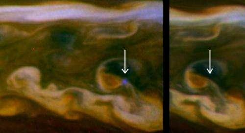 Cassini spots daytime lightning on Saturn
