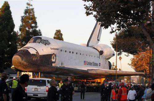 Endeavour finally reaches permanent LA museum home