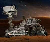Mars landing sky show