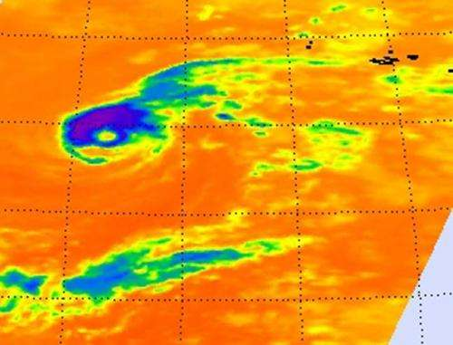 Infrared NASA imagery shows Nadine still has an eye, despite being a tropical storm