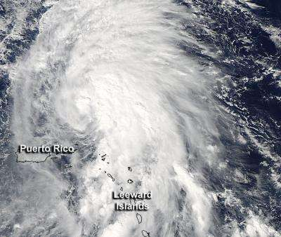 NASA eyes Tropical Storm Rafael battering the Leeward Islands