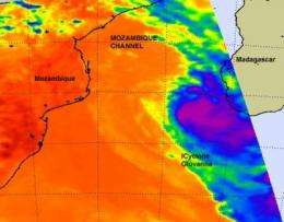 NASA sees Cyclone Giovanna moving through the Mozambique Channel