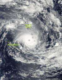 NASA sees Tropical Cyclone Jasmine over Vanuatu and New Caledonia