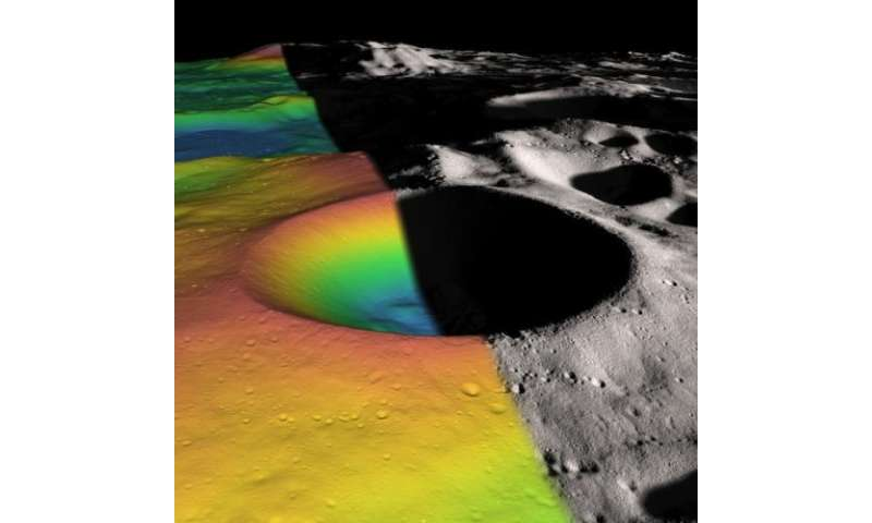 Researchers Estimate Ice Content of Crater at Moon's South Pole